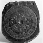 Форма для отливки зеркала. Династия Восточная Хань (25–220). Камень. Гарвардский художественный музей.