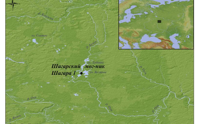 карта Шагарского могильника