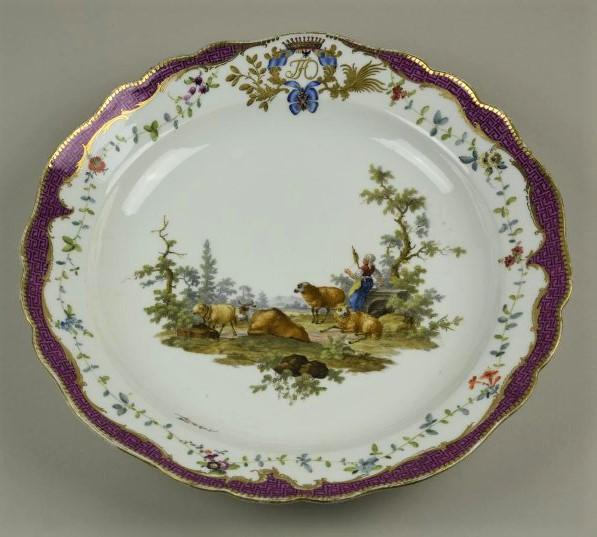 Блюдо круглое. Мейсенская фарфоровая мануфактура. 1769-1774 годы
