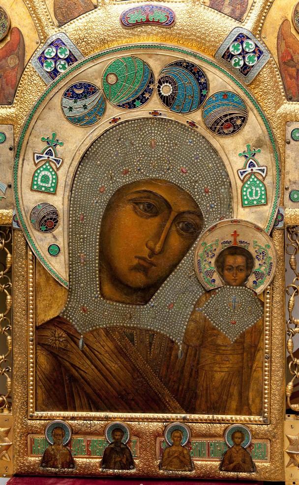 Икона Казанской Богоматери. Фрагмент хоругви