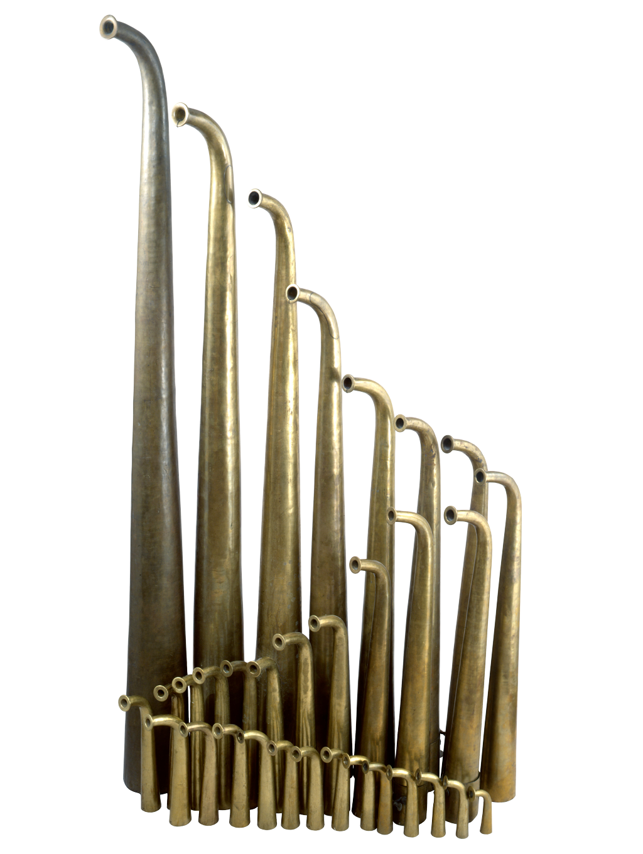Трубы рогового оркестра. Россия, вторая половина XVIII века.