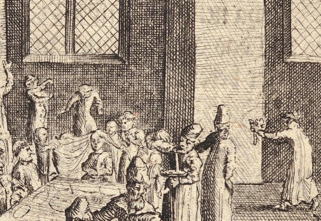 Старинный обряд расчесывание волос невесте и жениху проводили за приподнятым покрывалом, отделявших молодых от остальных участников свадьбы.