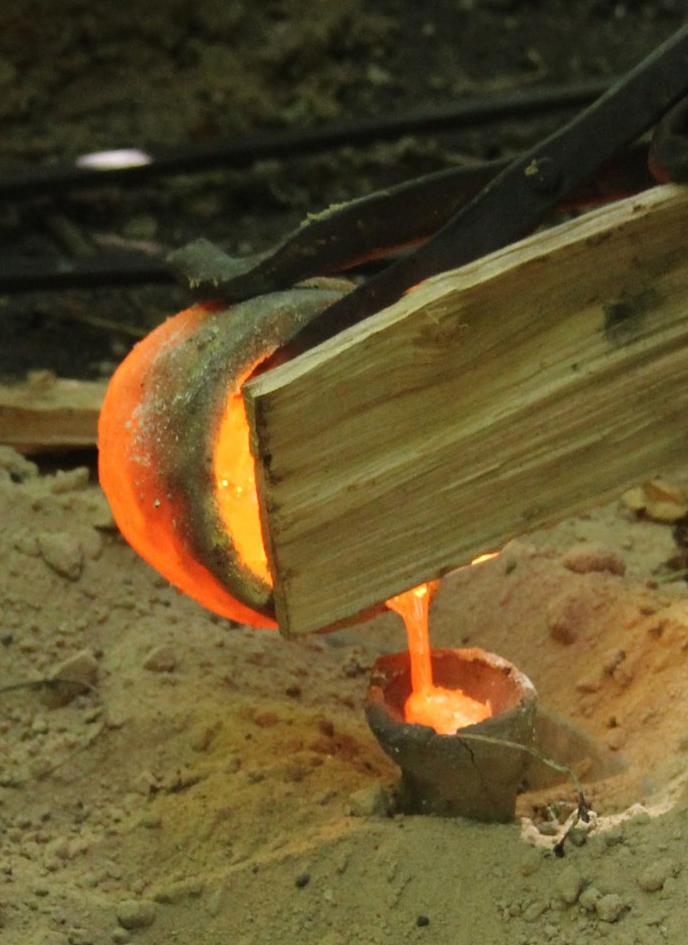 Переливание металла в нагретую форму