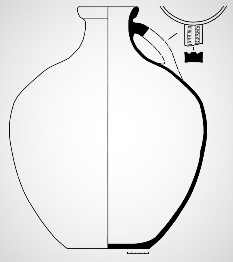 Графическая реконструкция кувшина-голосника