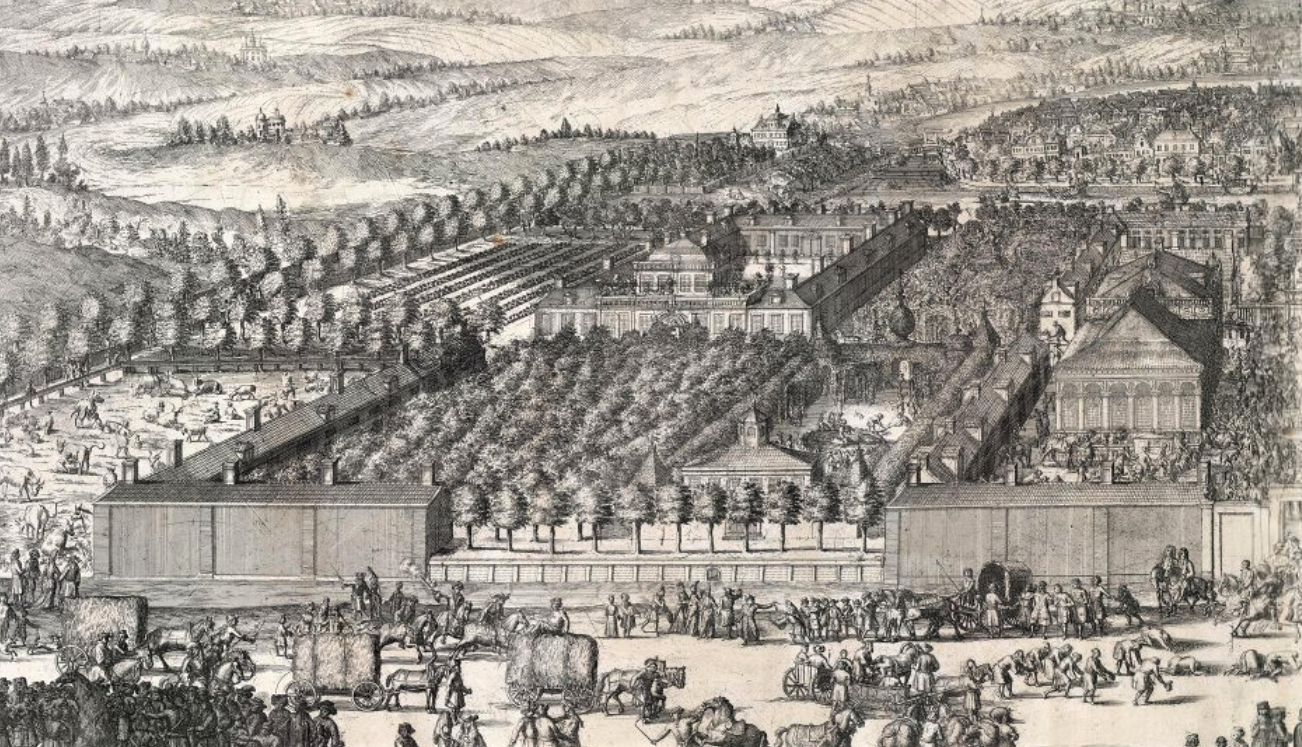 Гравюра А. Шхонебека и учеников. 1705 г.