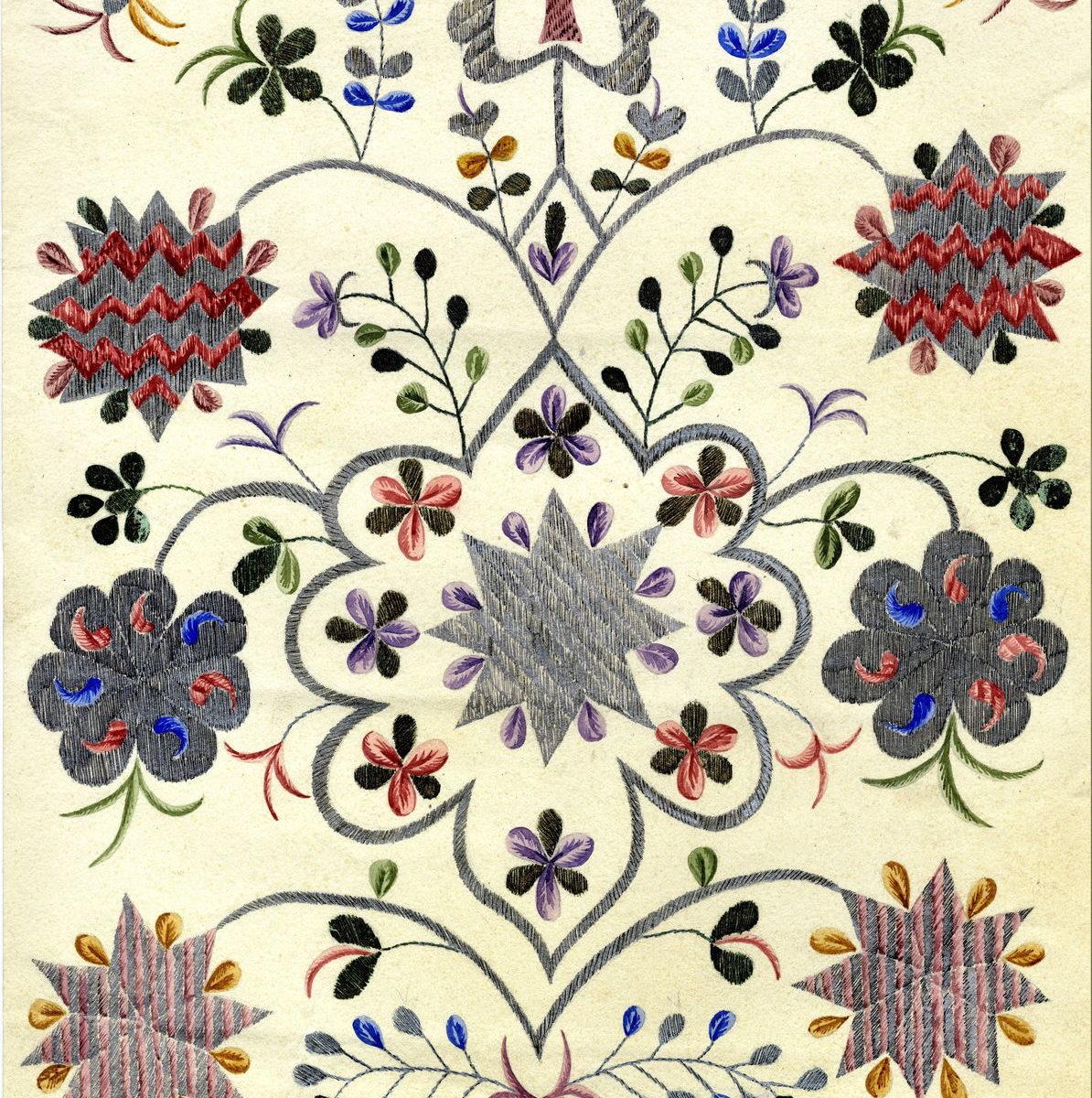 Е.Ю. Спасская. Рисунок вышивки на мужском поясе (учкъур)