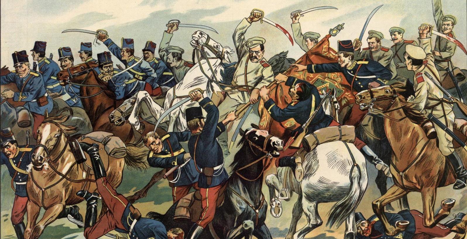 Великая Европейская война. Геройский подвиг унтер-офицера Аввакума Волкова, взявшего австрийское знамя