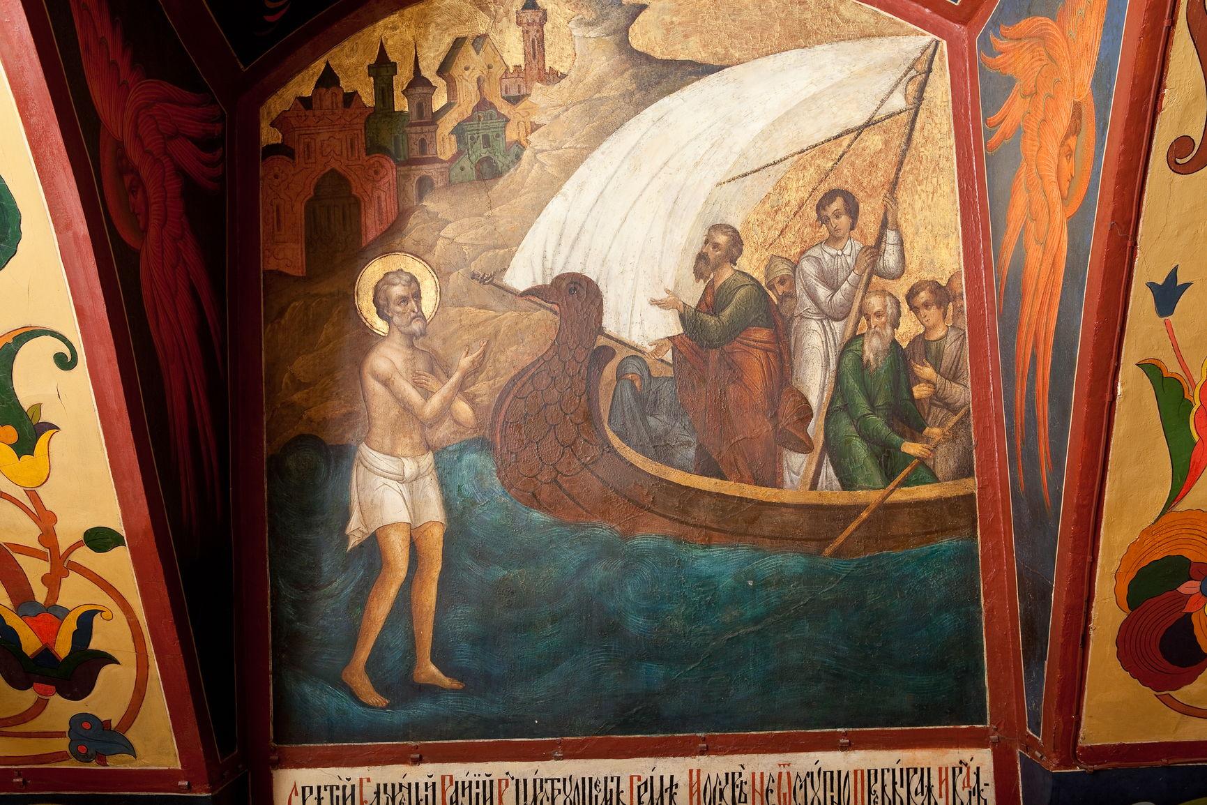 Фрагмент настенной росписи в церкви святого Василия Блаженного Покровского собора