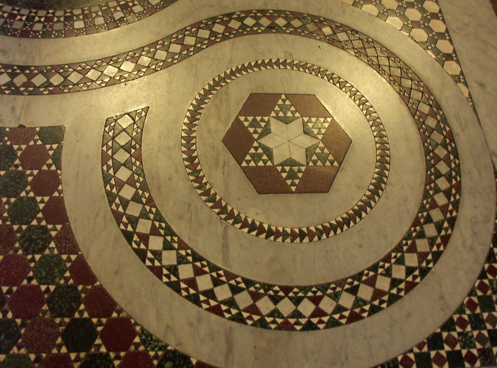 Фрагмент мозаичного пола. Рим. Фотография автора
