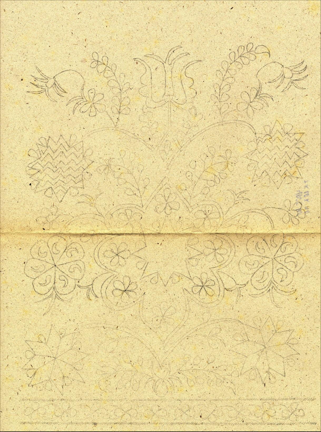 Рисунок вышивки на мужском поясе (учкъур)