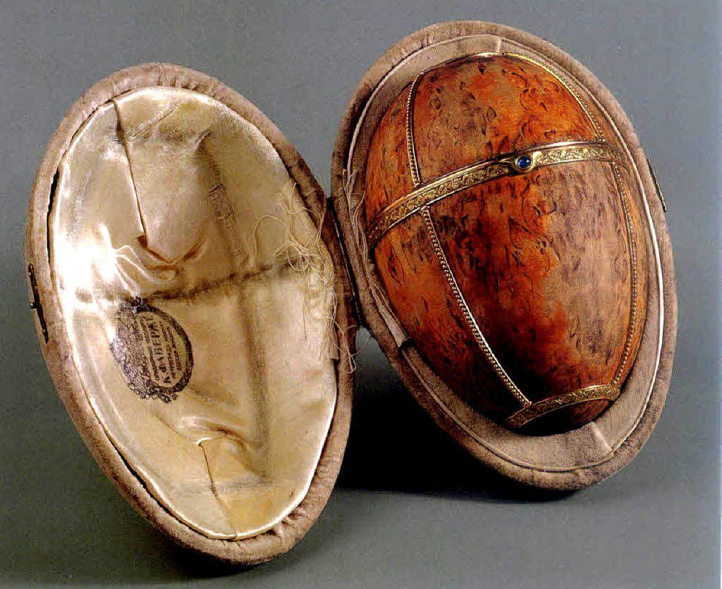 """Яйцо """"Березовое"""". Фирма К. Фаберже. 1917 г."""