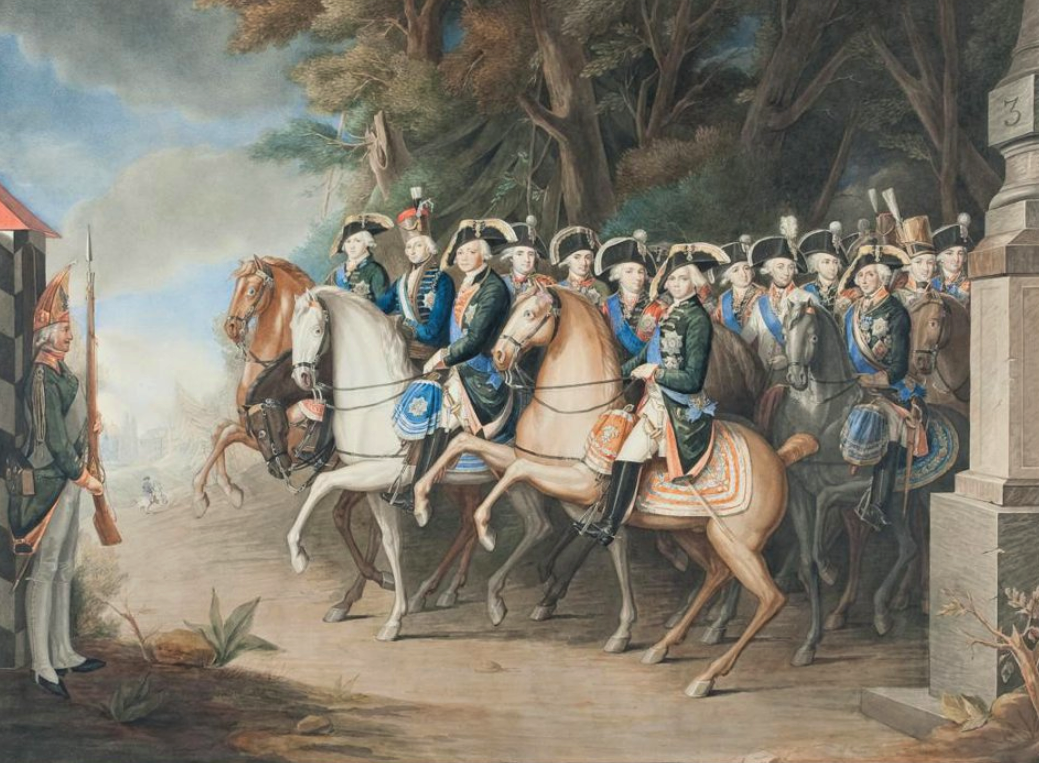 Император Павел I со свитой. Осокин К.С. 1835 г.