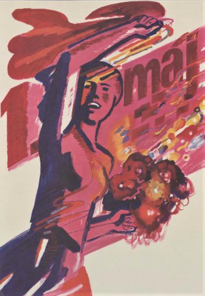 Плакат. 1 мая. Филип З. Издательство «Свобода» 1989 г.