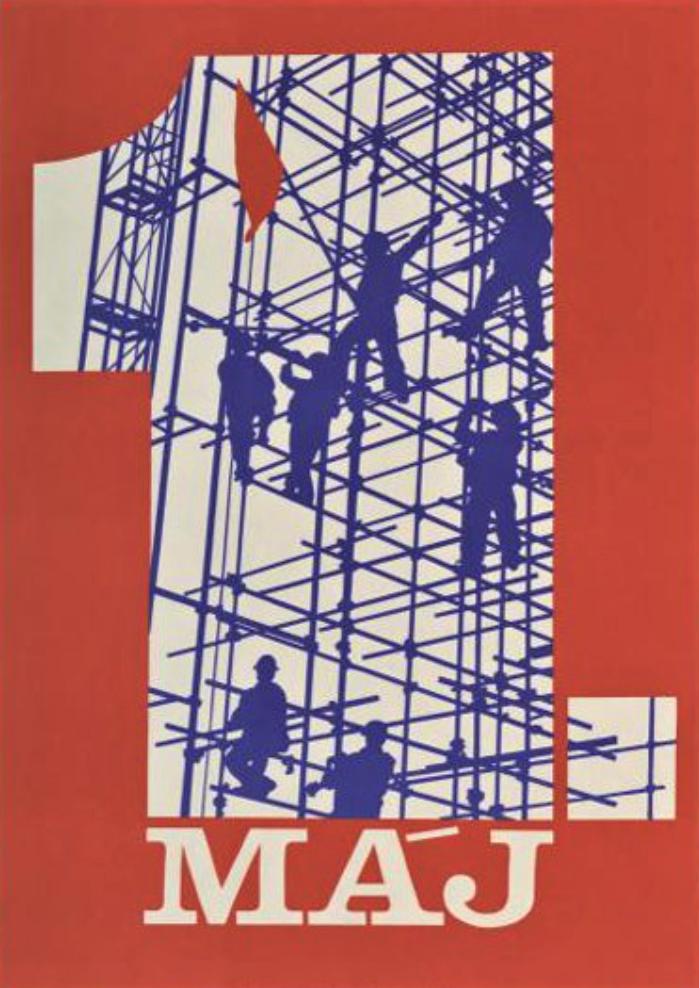 Плакат. 1 мая. Миовский В. Издательство «Свобода» 1988 г.