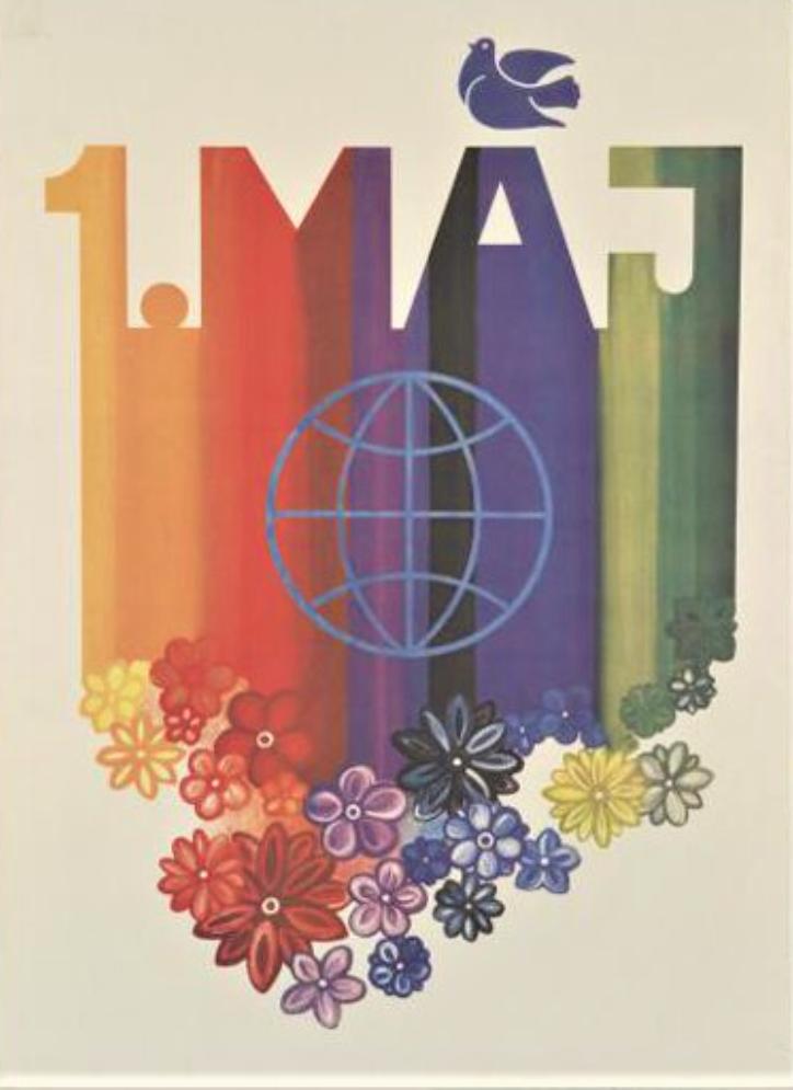 Плакат. 1 мая. Свобода Й. Издательство «Свобода» 1988 г.