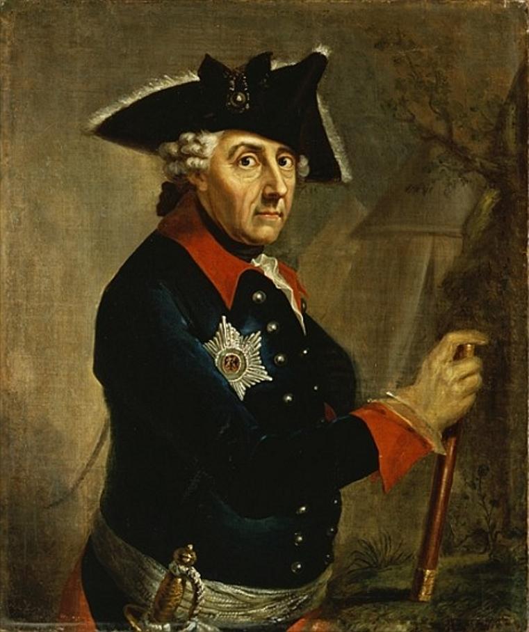 Портрет короля Фридриха II.