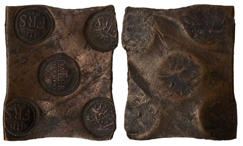 ½ далера серебром 1747 г.