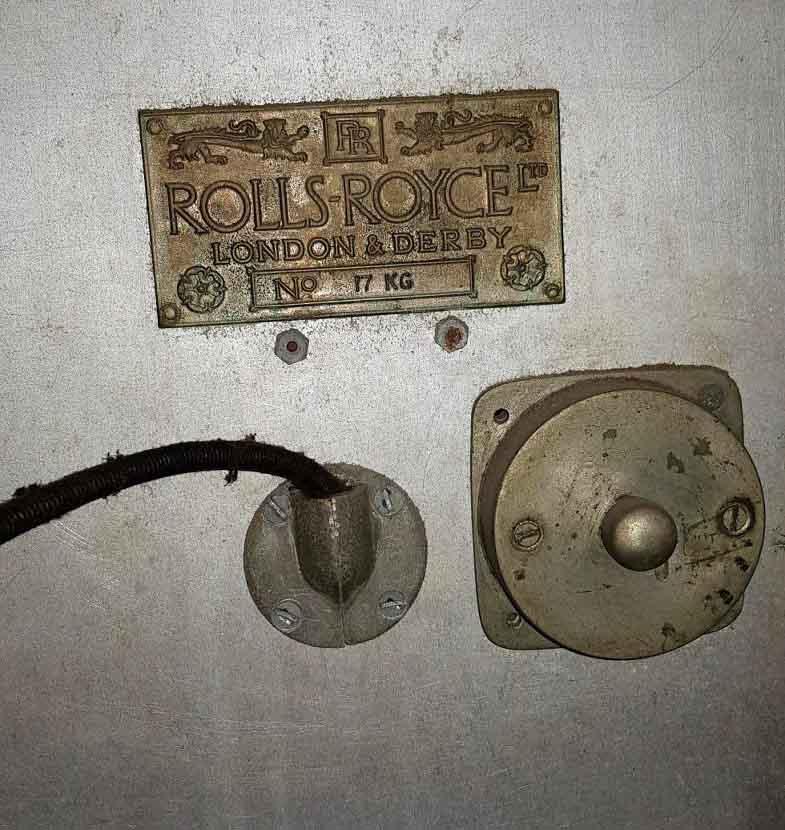 """Серийный номер автомобиля """"Роллс-Ройс"""" из коллекции Исторического музея"""
