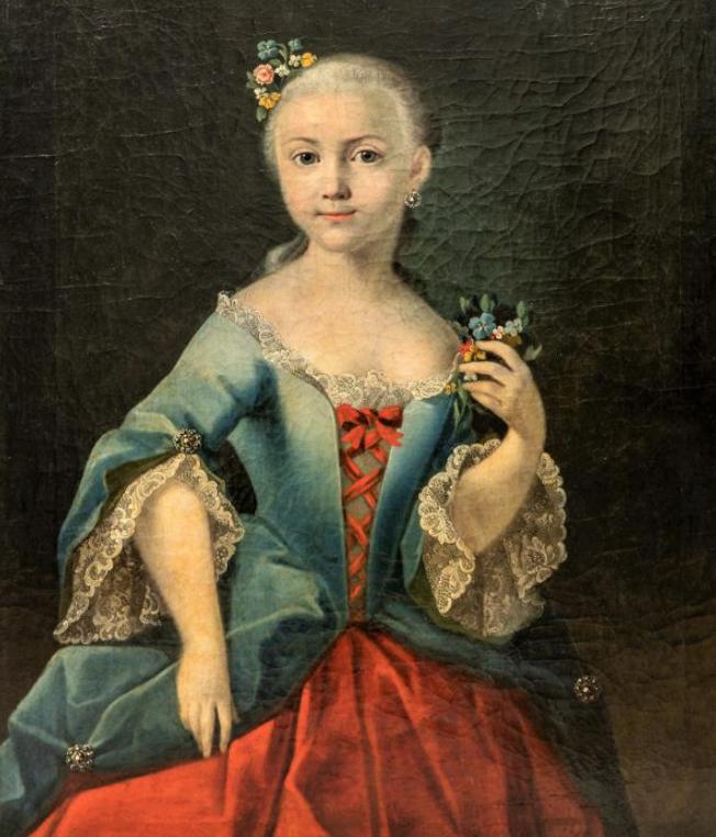 Портрет Е.П.Стрешневой. (1751 - 1837) в детстве. Около 1760 года