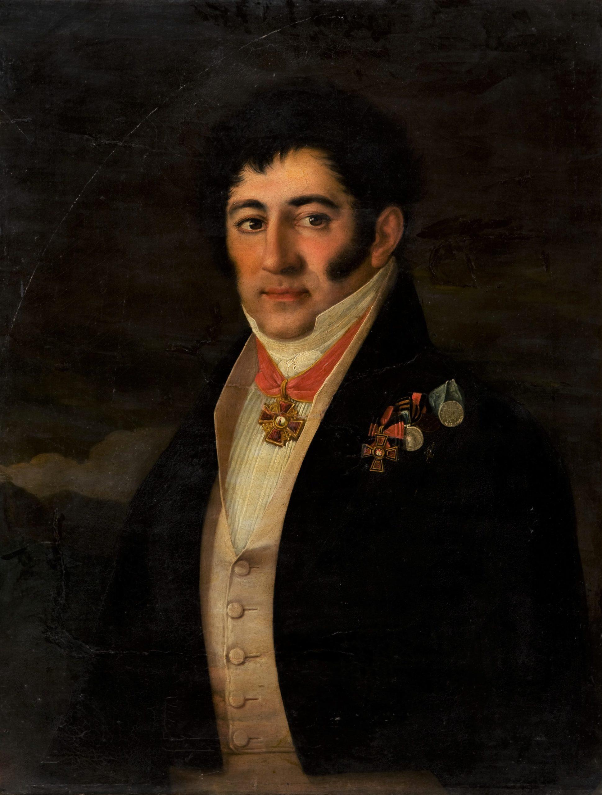 неизвестный художник. Портрет Струйского Евграфа Николаевича (около 1749-1841). 1820-1830-е гг.