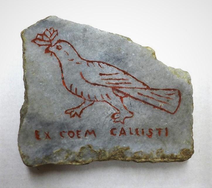 Сувенир - кусок мрамора из Римских катакомб. Середина XIX в.