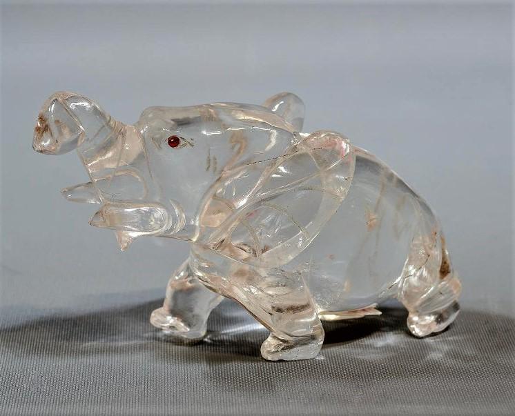 Скульптурная фигура идущего слона с поднятым хоботом. Фирма Фаберже. Начало XX в.