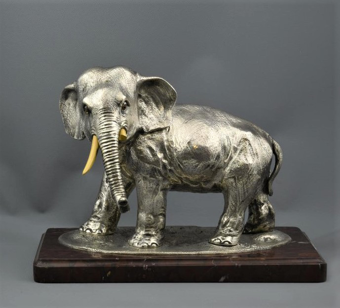 Скульптура «Слон». Фирма К. Фаберже, Мастерская А. Неваляйнена. Невалляйнен Андрес Иоганн. 1908-1916 гг.