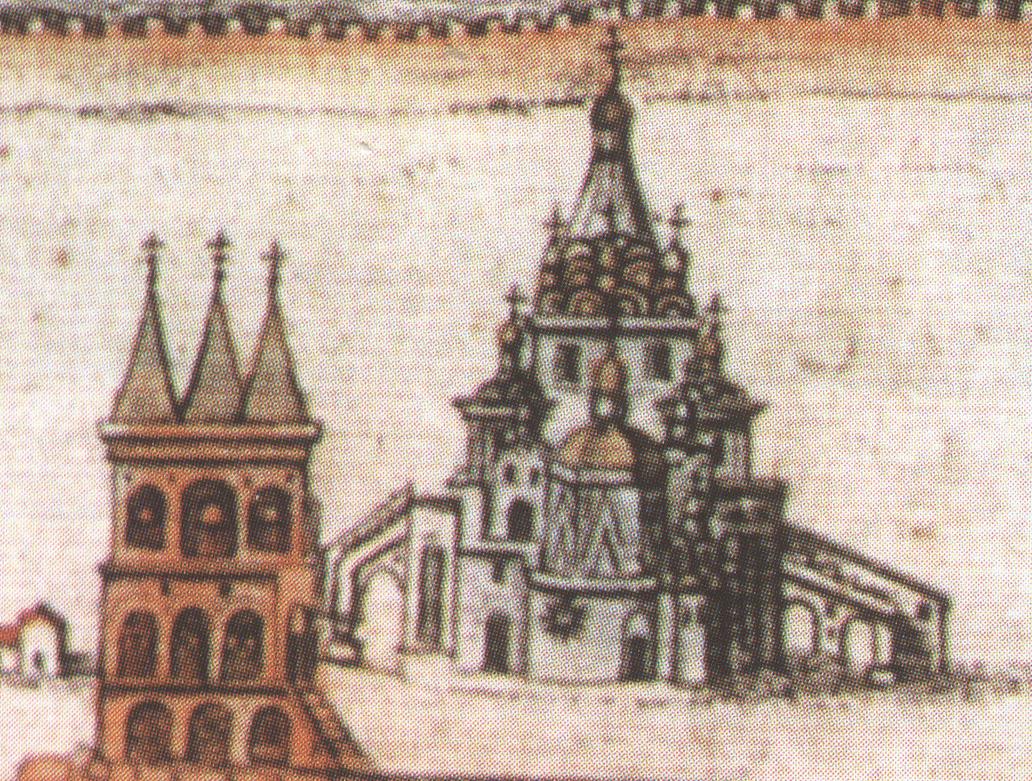 Покровский собор на древнем плане Москвы