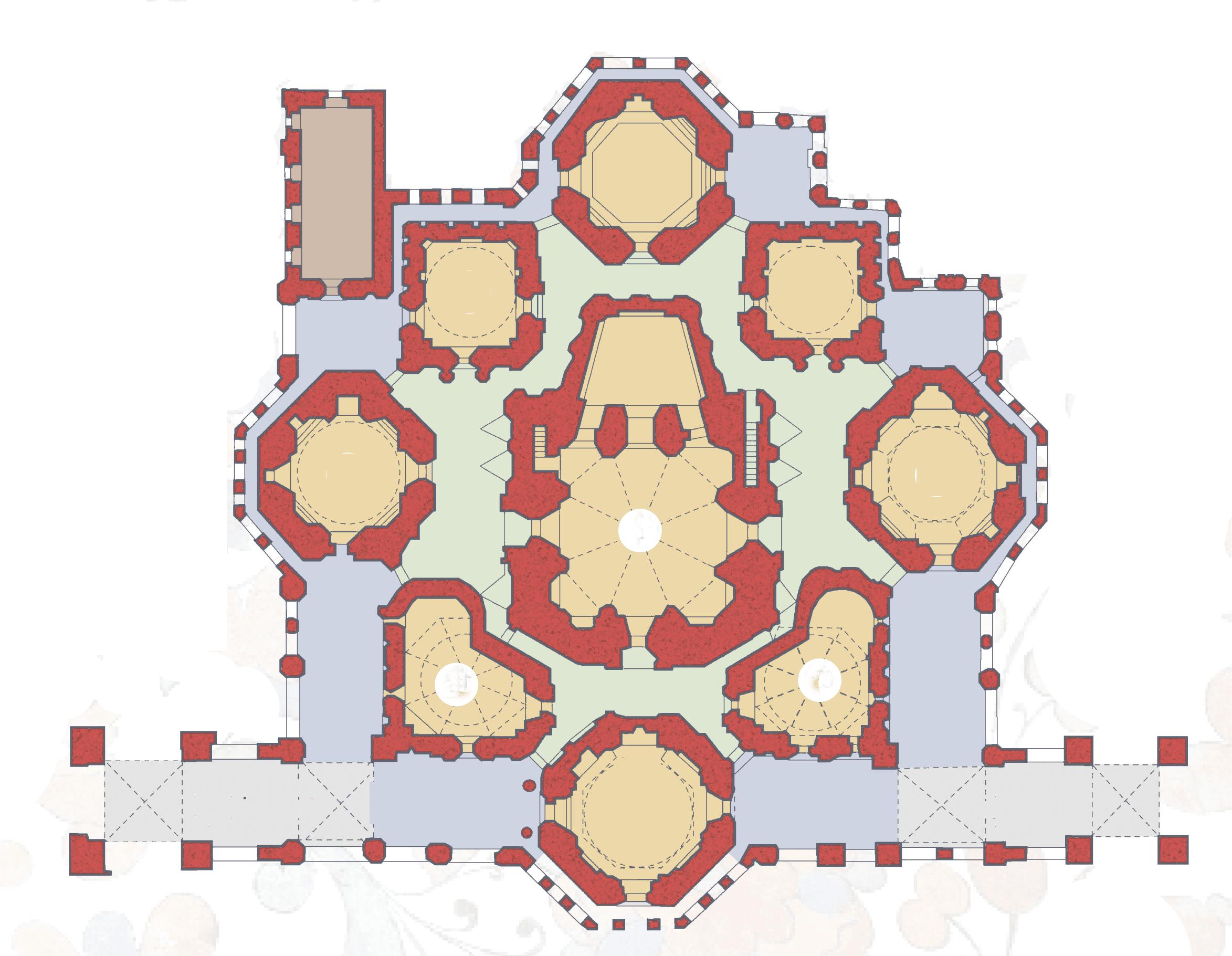 План второго яруса Покровского собора
