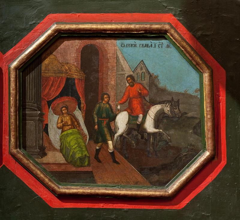 Икона «Притча о добром самаритятине». Подместный ряд иконостаса