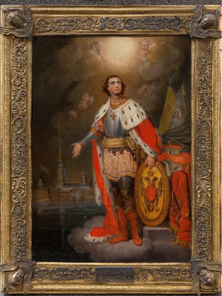 Икона. Благоверный князь Александр Невский. Санкт-Петербург. Начало 1840-х гг.