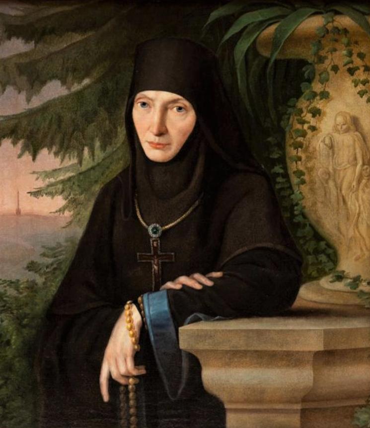 Портрет настоятельницы Спасо-Бородинского монастыря Марии (М.М. Тучковой), урожденной Нарышкиной. 1840-е