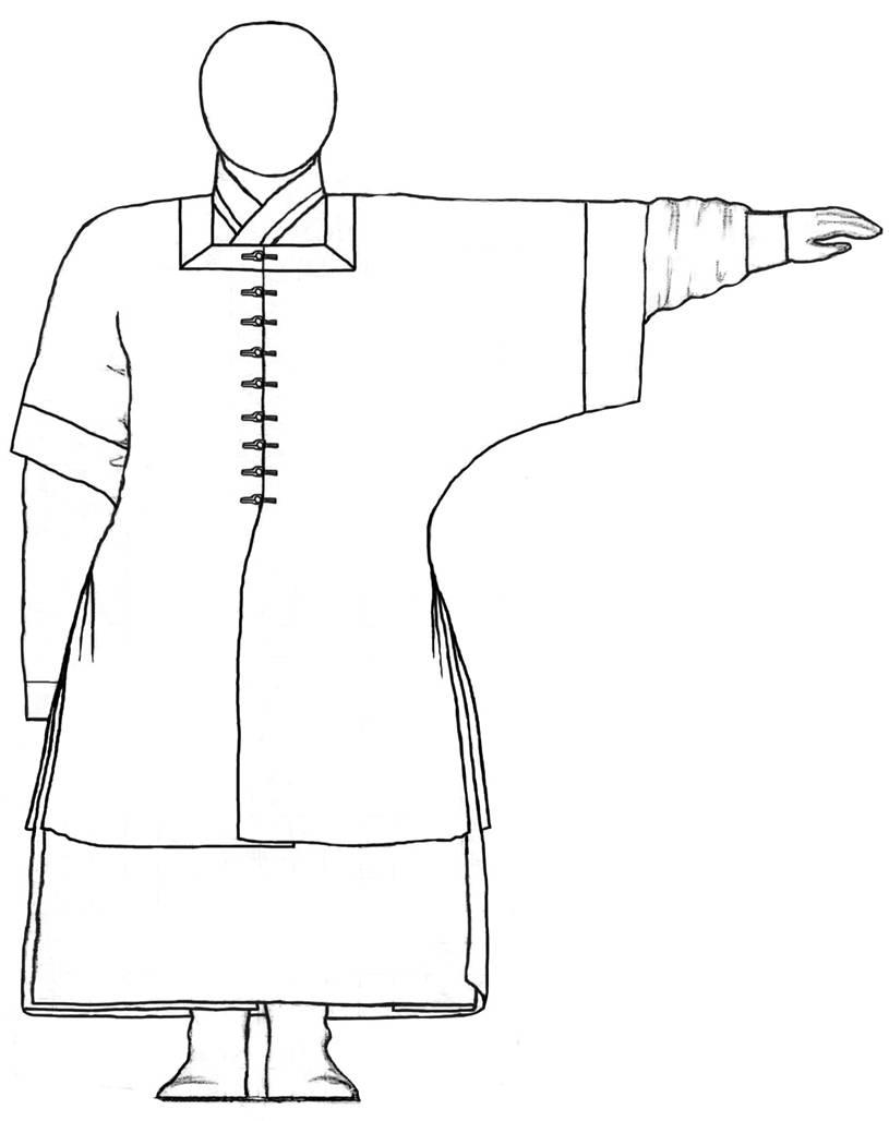 реконструкция обоих халатов на фигуре