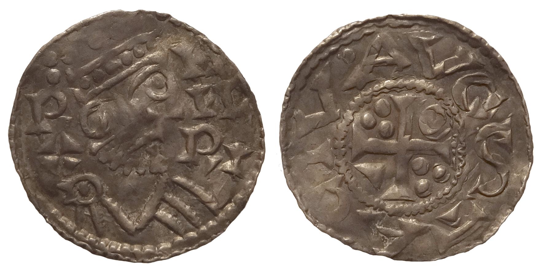 Германия, Аугсбург. Генрих II (1002–1024, император с 1014). Денарий