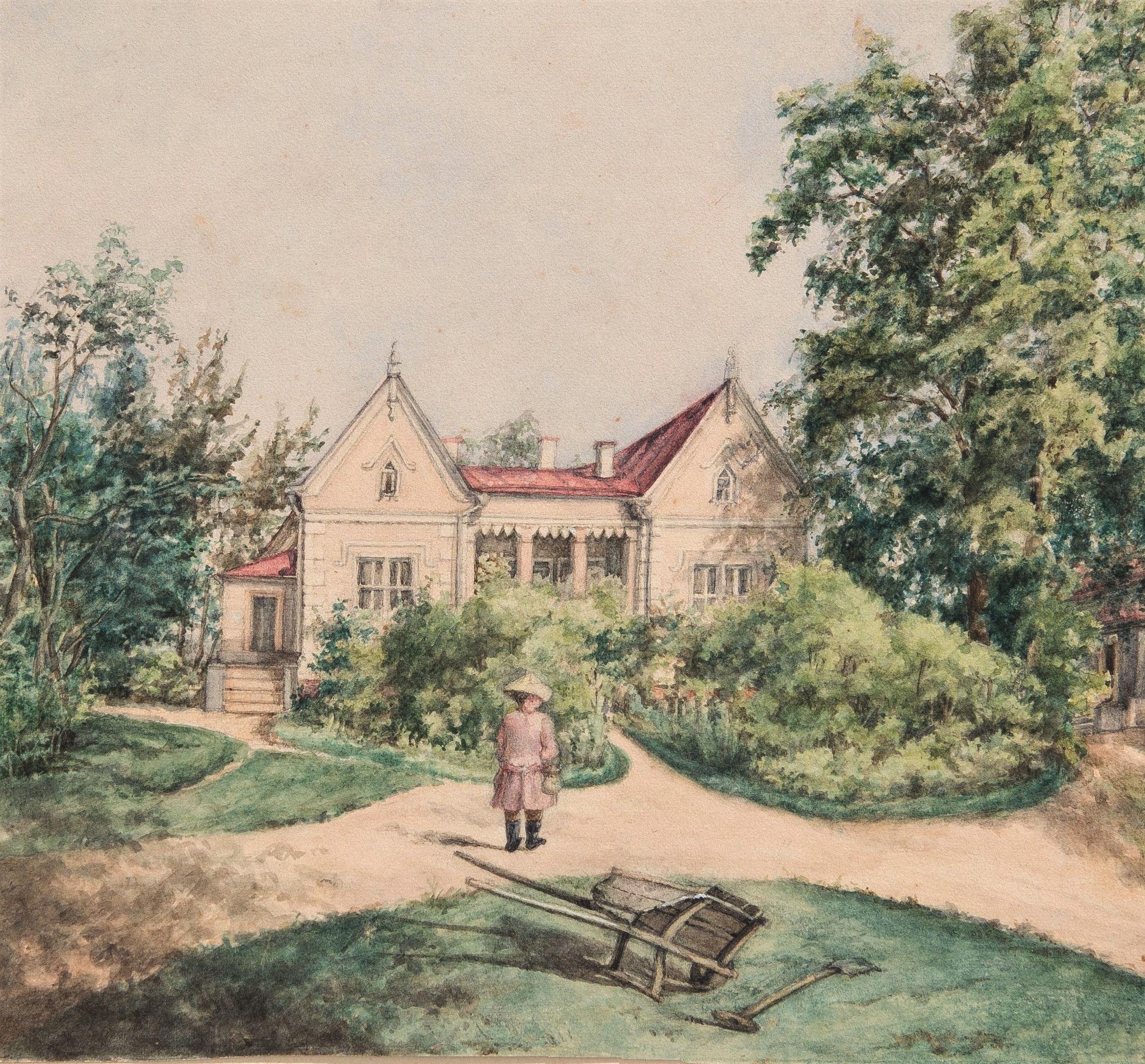Озерова В.С. Новый дом Озеровых в имении Аносино. Не ранее 1845 г.
