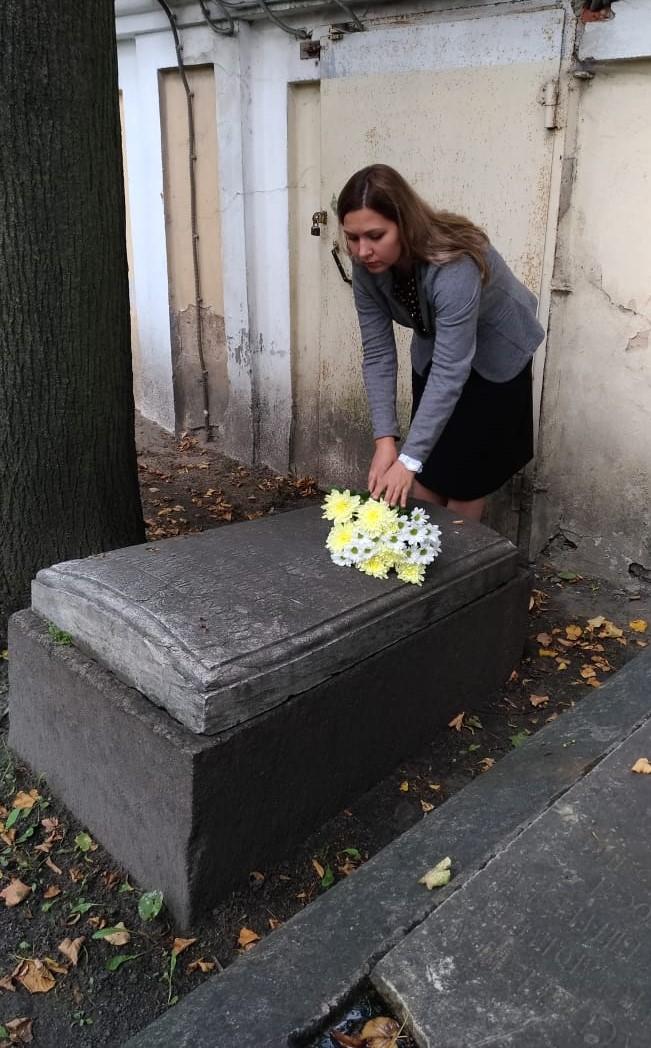 Могила Ивана Родионовчиа Чиркина на территории некрополя XVIII века на кладбище Александро-Невской Лавры