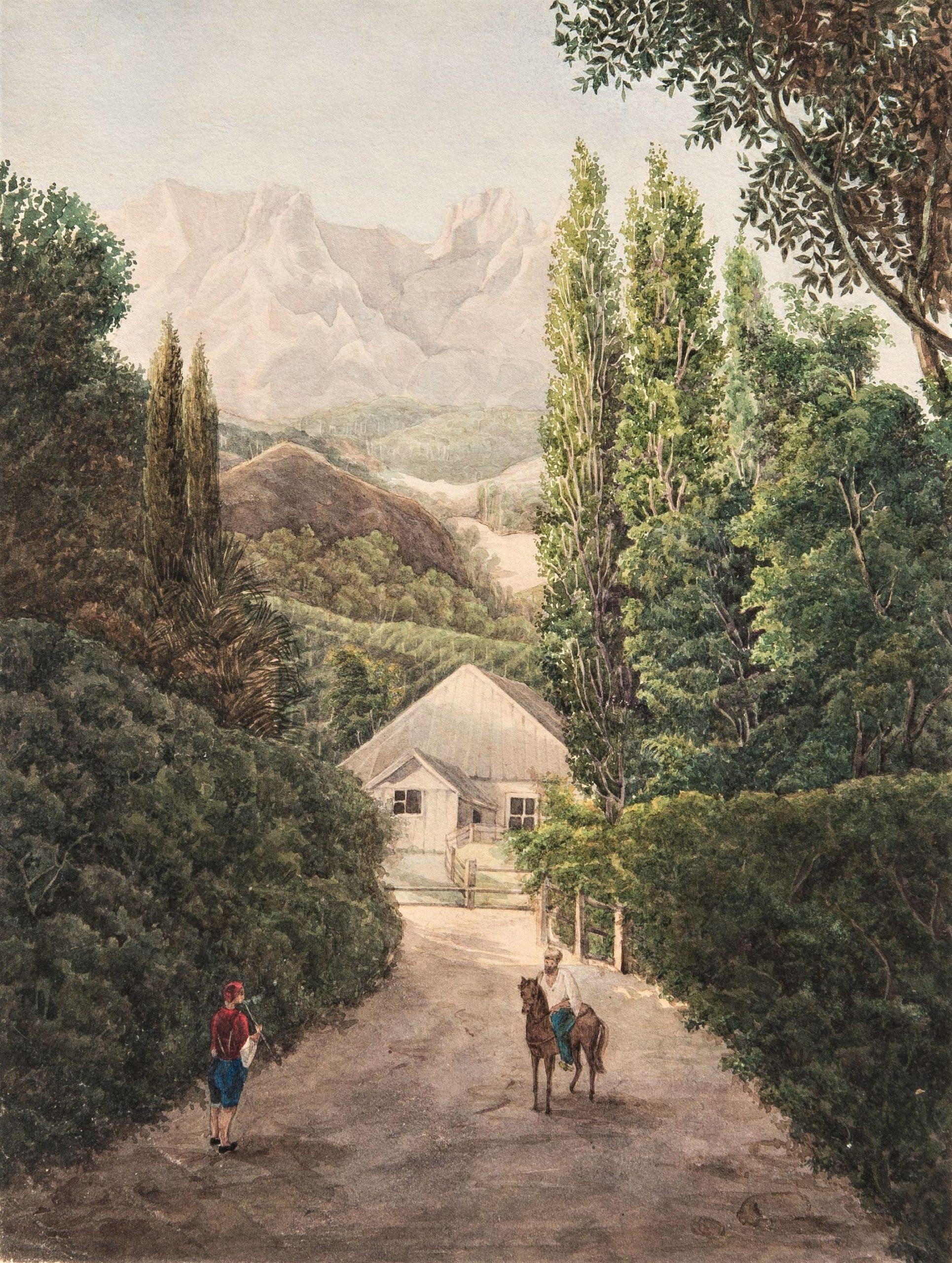Озерова Н.С. Вид Алупки. Рисунок из альбома Российская империя. 1840-е гг.