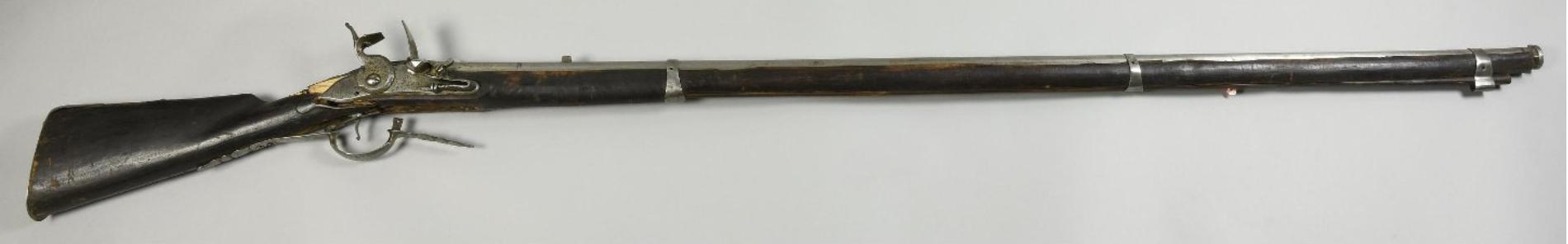 Ружье кремневое солдатское пехотное (фузея) Россия. 1727 г. Сталь, дерево, латунь; ковка,