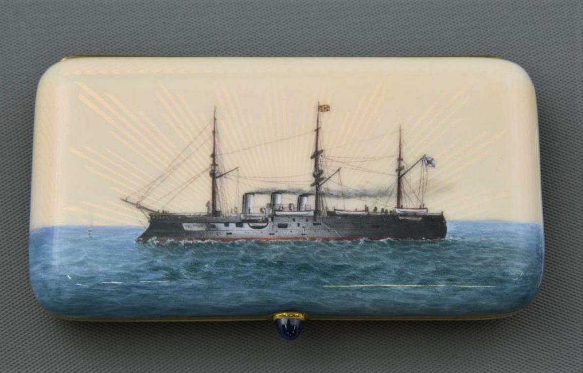 Фирма К. Гана. Портсигар. 1888 - 1890 - ые гг.