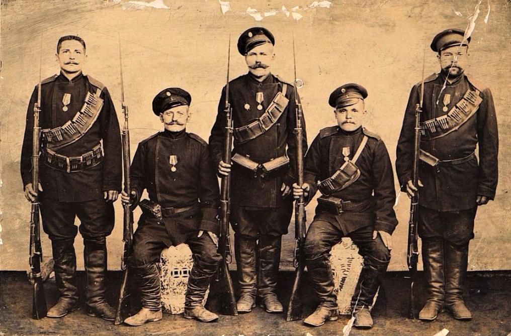 Солдаты - участники русско-японской войны. 1904 г.