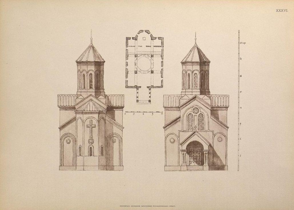 План и разрез церкви