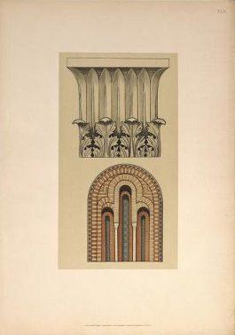 («Лист 45. Капитель колонны и окно церкви в Салониках»