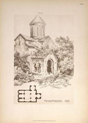 Грузия. Тимотисмани, древний храм. Tsimatismani.