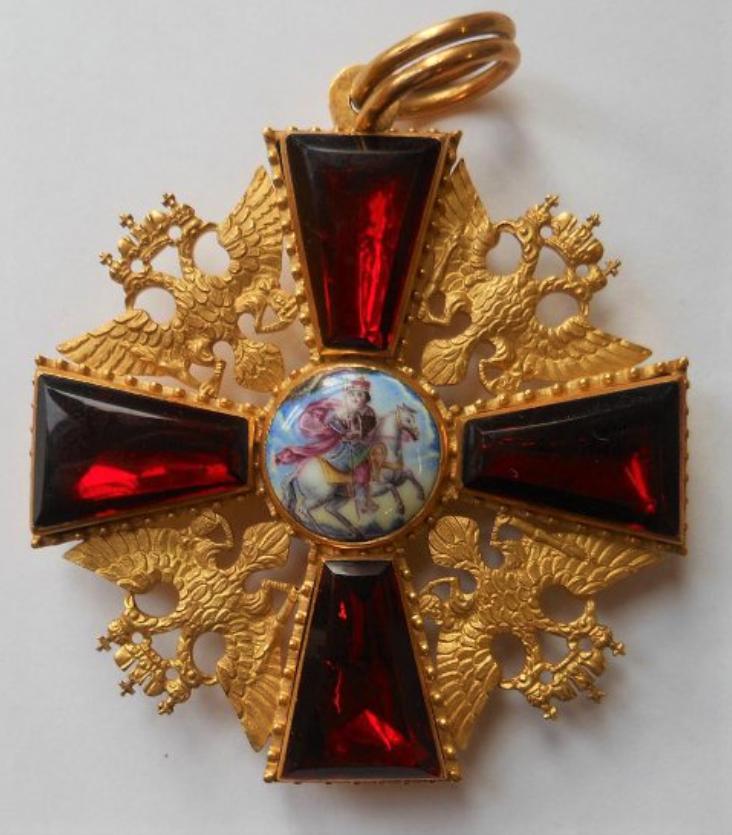 Знак ордена Св. Александра Невского. Принадлежал Александру I, затем генерал-адъютанту А.Д. Балашёву. Конец XVIII - начало XIX в
