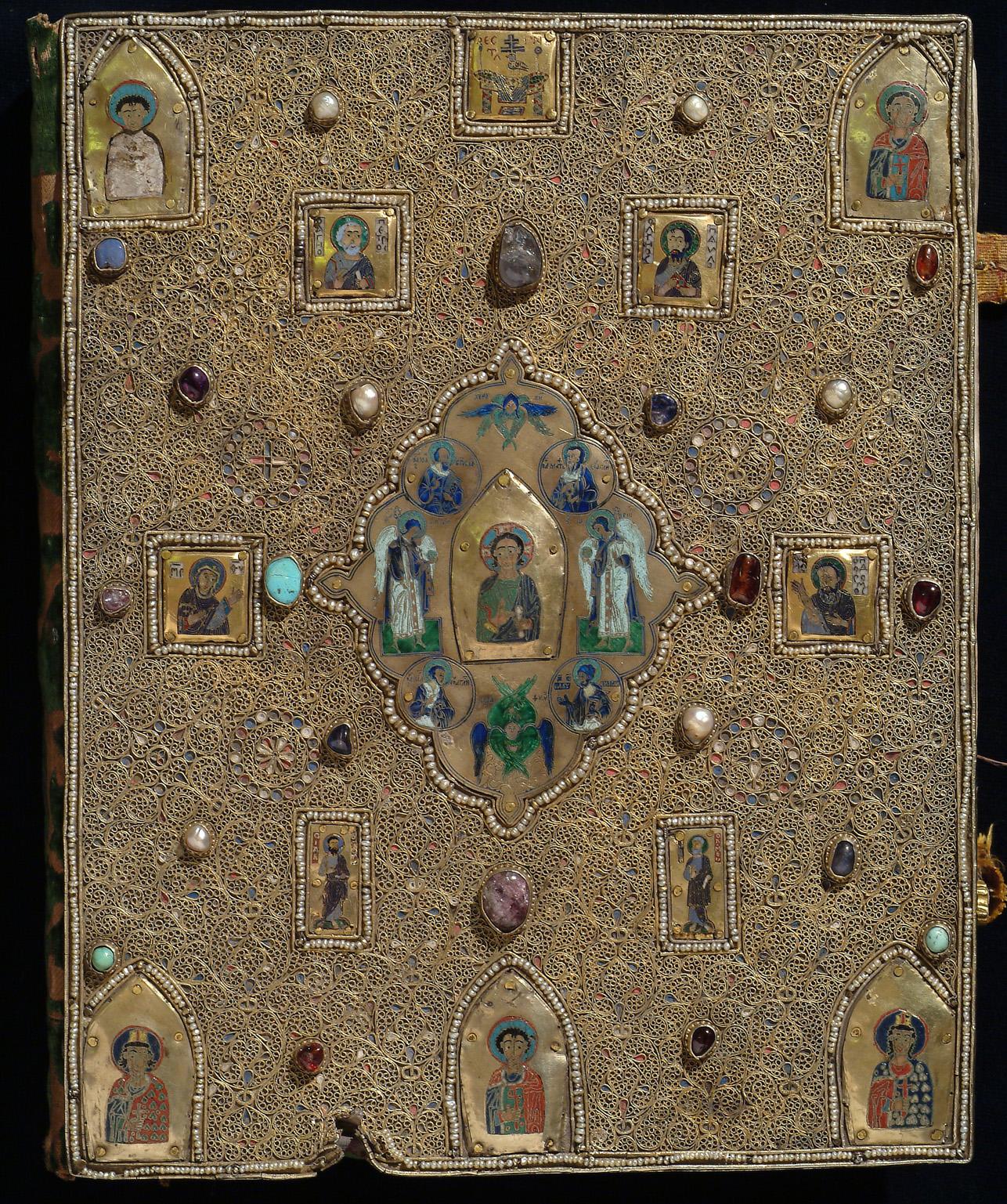 Оклад Мстиславова Евангелия (ГИМ, Син. 1203), выполненный в Новгороде в 1551 г.