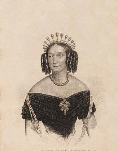 Афанасьев К. В.к. Анна Павловна. 1852 г. Бумага, гравюра на стали