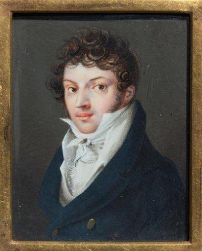 Портрет неизвестного. Дезарно Август Осипович (старший). 1818 г.