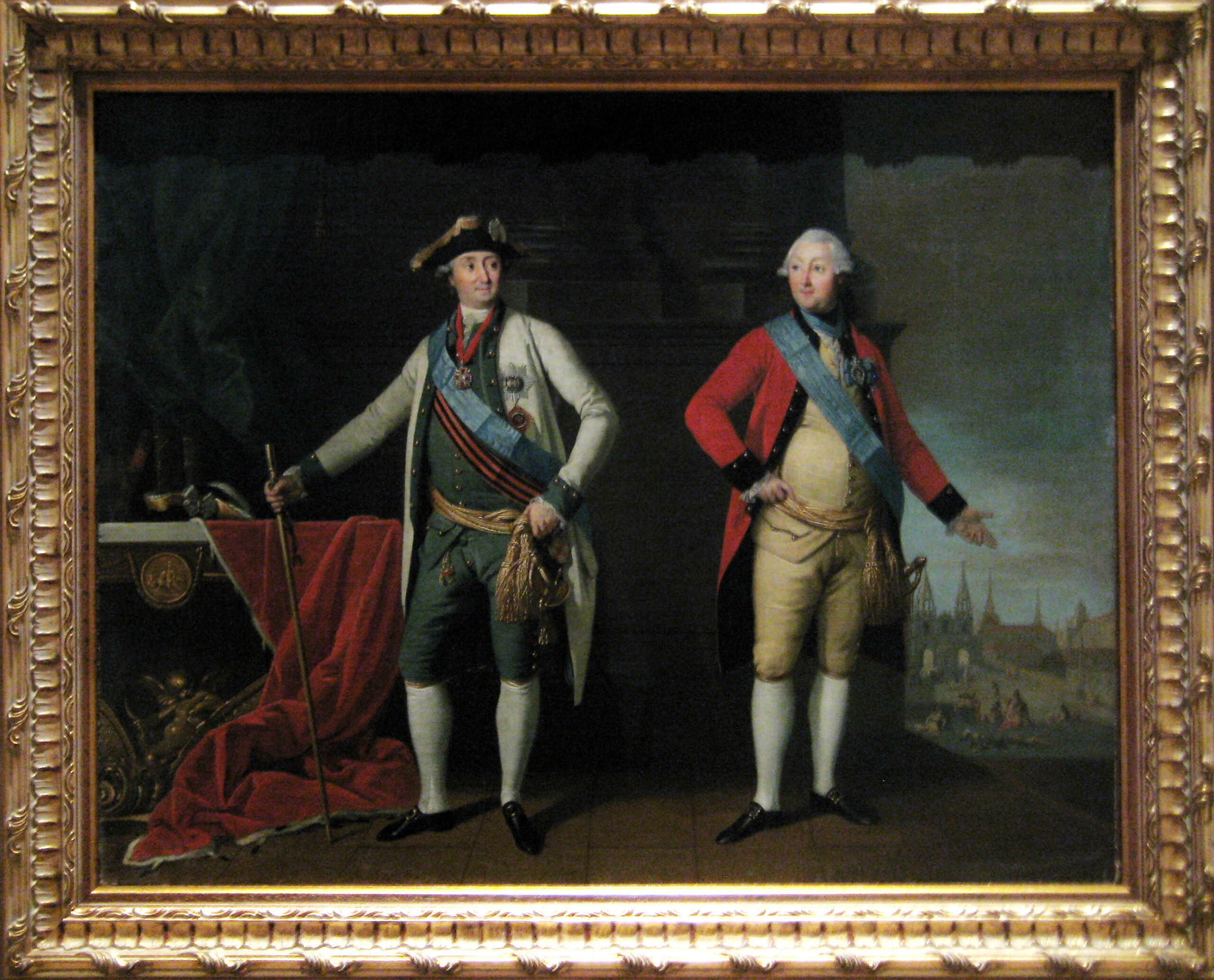 Портрет графа А.Г. Орлова-Чесменского и князя Г.Г. Орлова К.Л. Христинек Россия, 1770-е гг. Холст, масло Источник: