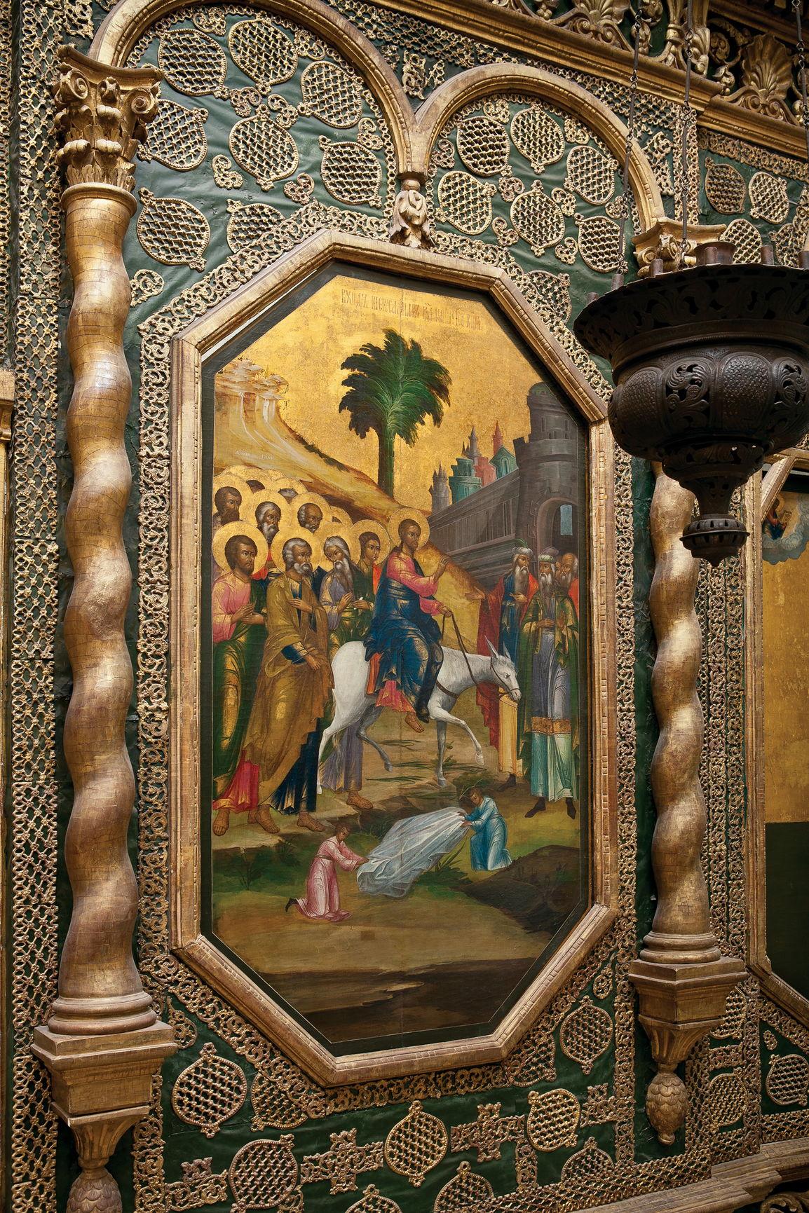 Икона «Вход Господень в Иерусалим». XVIII в. Местный ряд иконостаса церкви Входа Господня в Иерусалим Покровского собора