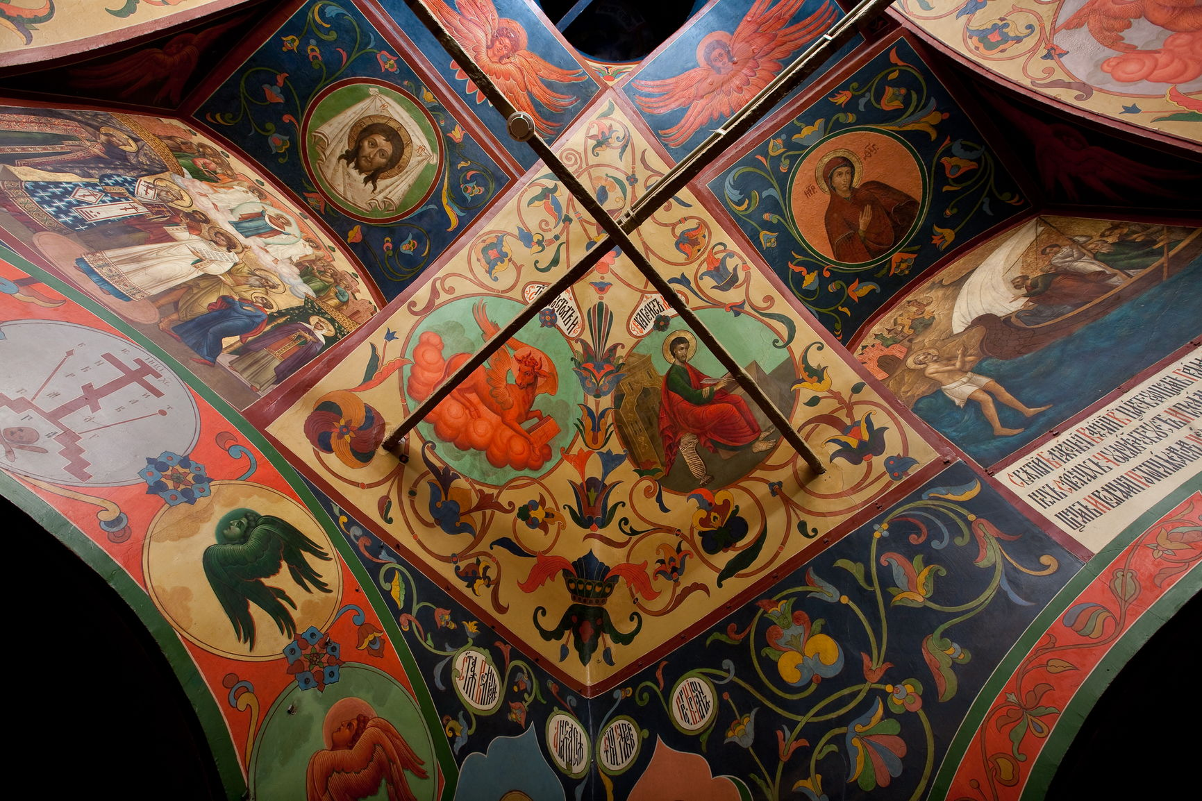Свод церкви Василия Блаженного